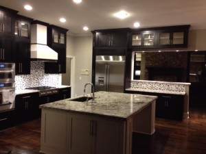 CONTEMPORARY KITCHENS - BLACK AND WHITE INSET SHAKER KITCHEN4
