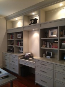 Cabinetry WARM GRAY SHAKER BUILT-IN MAPLE